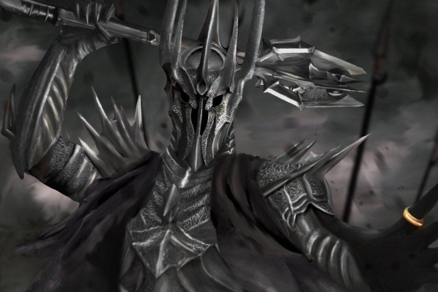 art-lord-of-the-rings-the-lord-of-the-rings-sauron-sauron-ring-armor-the-army-battle-mace