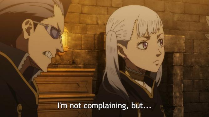 Black Clover Noelle Complaining