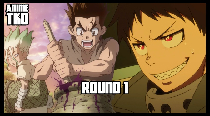 Fire Force vs. Dr. STONE | Round 1 – 2 | Anime TKO
